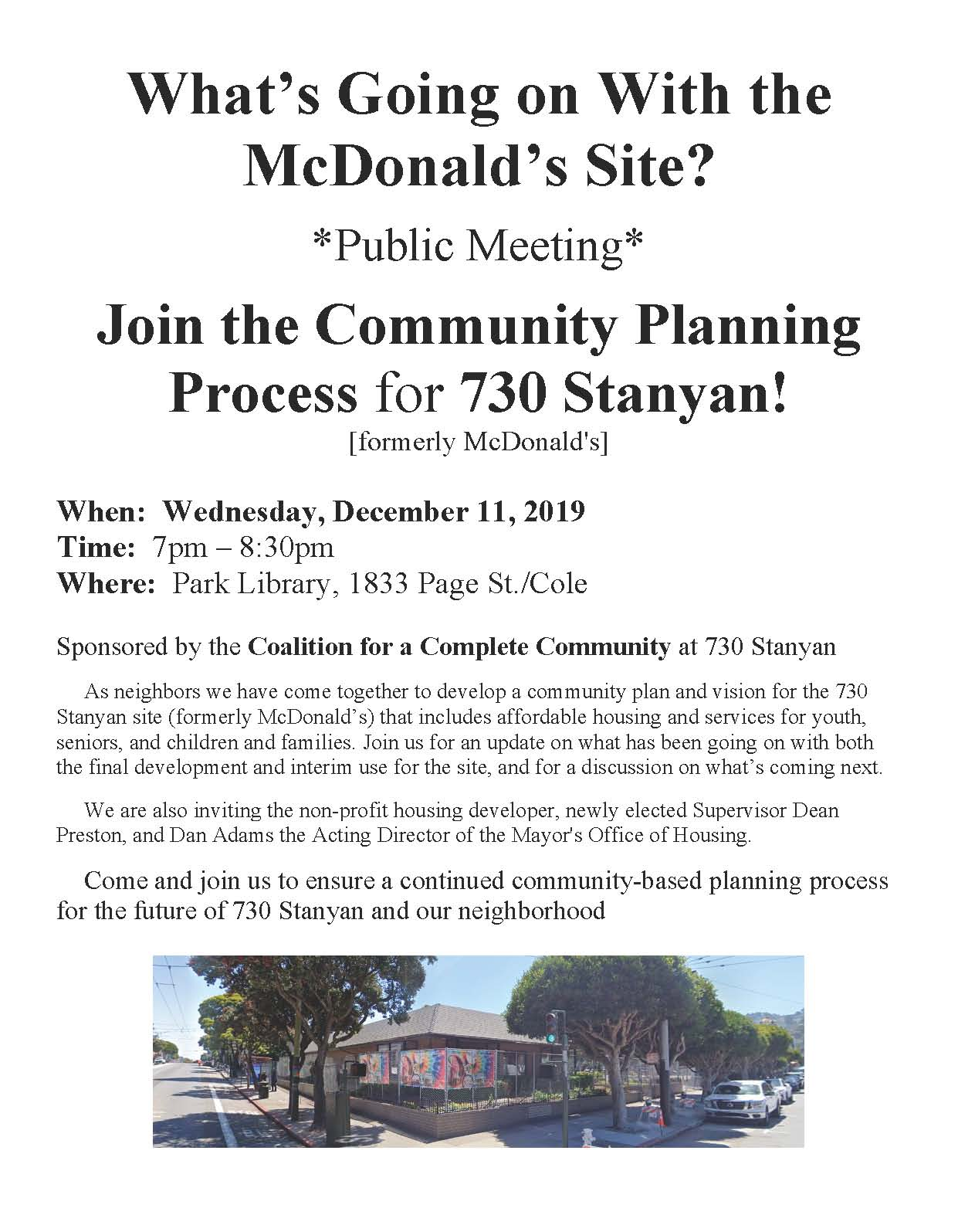 CCC Community Meeting Flyer Dec 11 2019